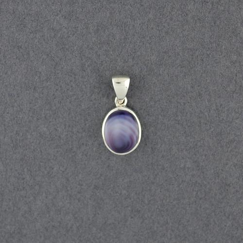 Wampum Small Oval Pendant