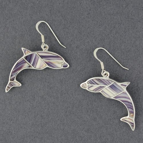 Wampum Dolphin Inlay Earring