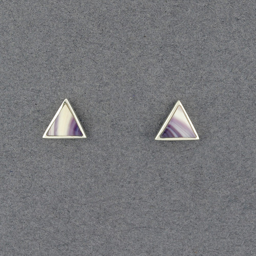 Wampum Triangle Post Earring
