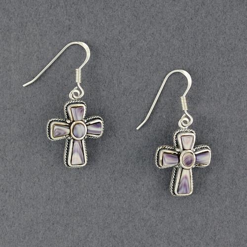 Wampum Cross Earring