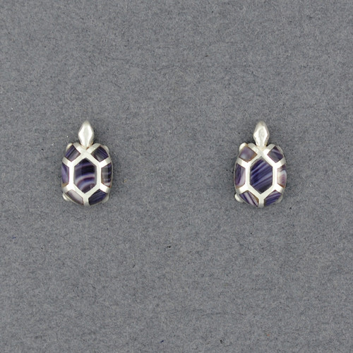 Wampum Turtle Post Earring