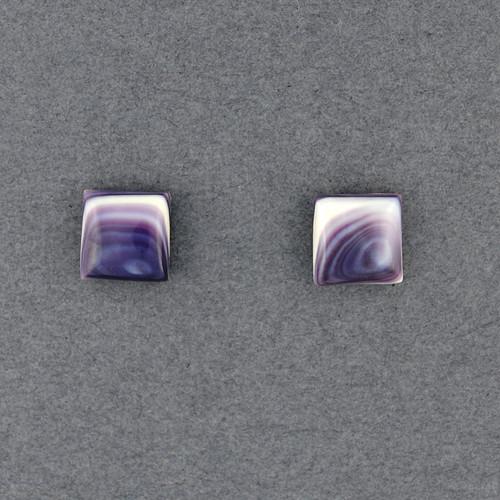 Wampum Square Post Earring