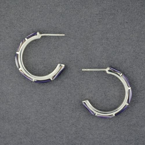 Wampum Hoop Earring