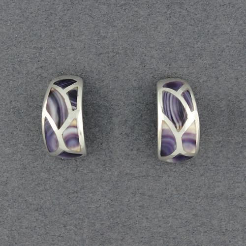 Wampum Curved Mosaic Earring