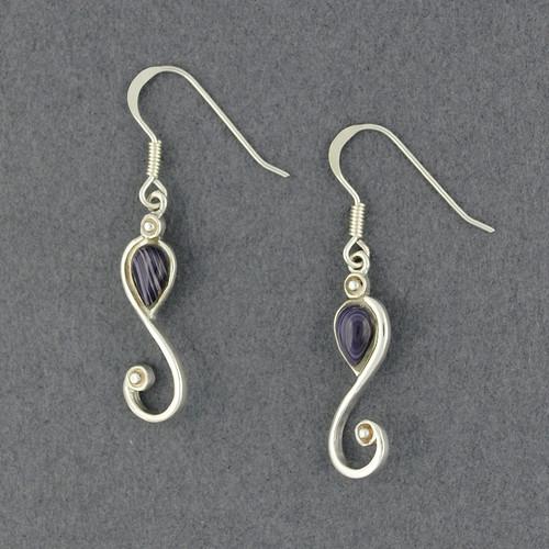 Wampum Swirl Earring