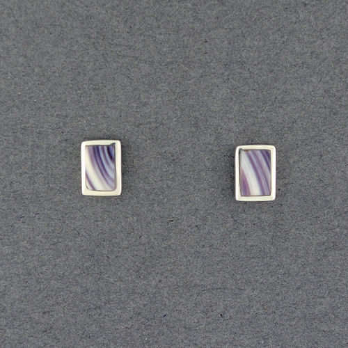 Wampum Rectangle Post Earring
