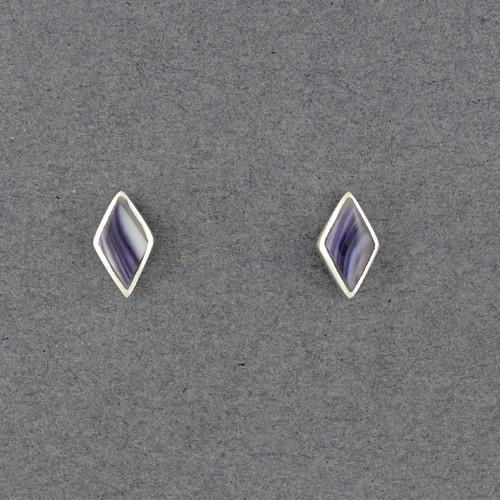 Wampum Rhombus Post Earring