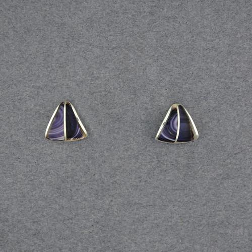 Wampum Split Triangle Post Earring