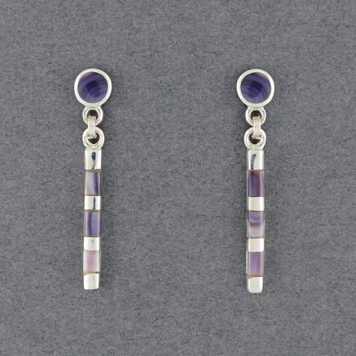 Wampum Cylinder Post Earring