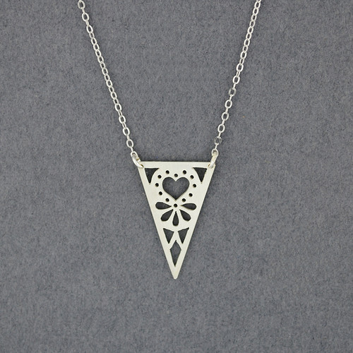 Triangle Heart Necklace