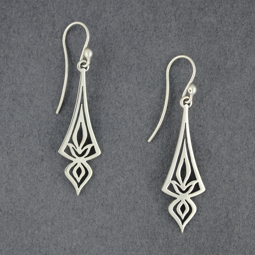 Long Ornate Arrow Earrings