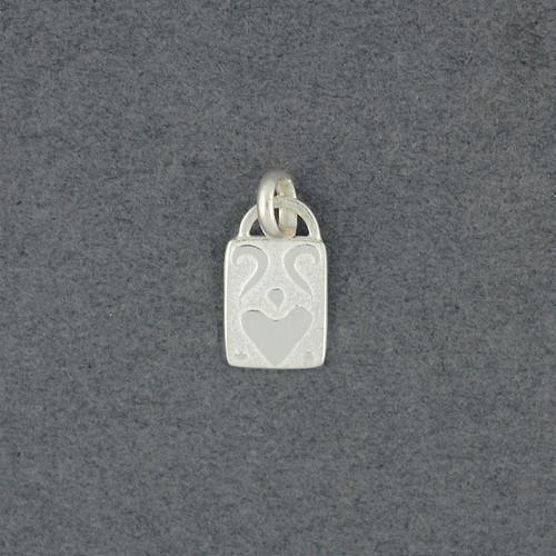 Mini Folk Heart Pendant