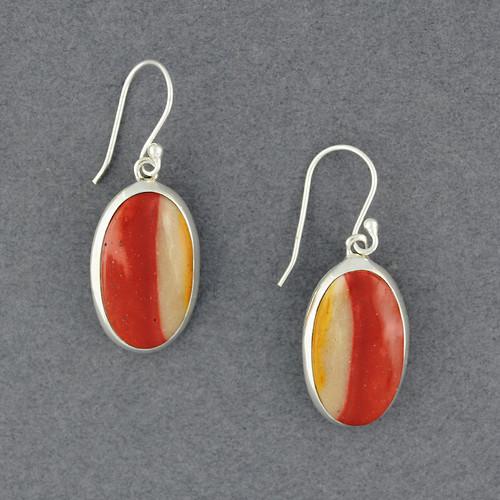 Sterling Silver Mookaite Earrings