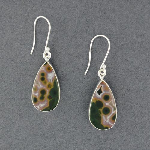 Sterling Silver Ocean Jasper Earrings