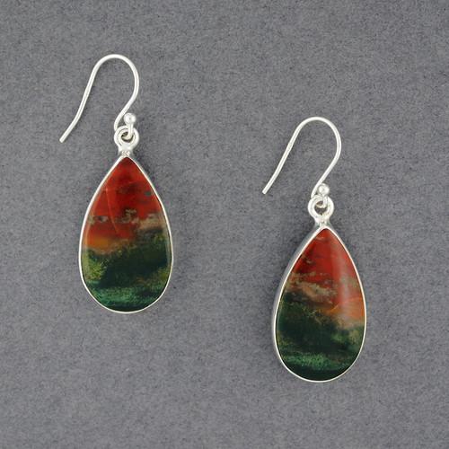 Sterling Silver Bloodstone Earrings
