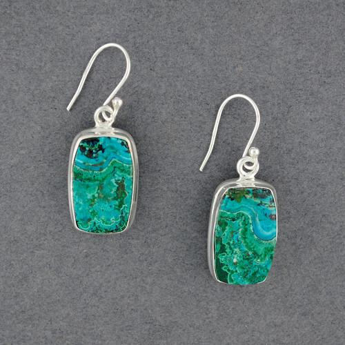 Sterling Silver Azurite/Malachite Earrings