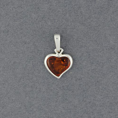 Amber Small Heart Pendant