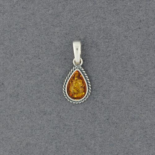 Amber Small Teardrop Pendant