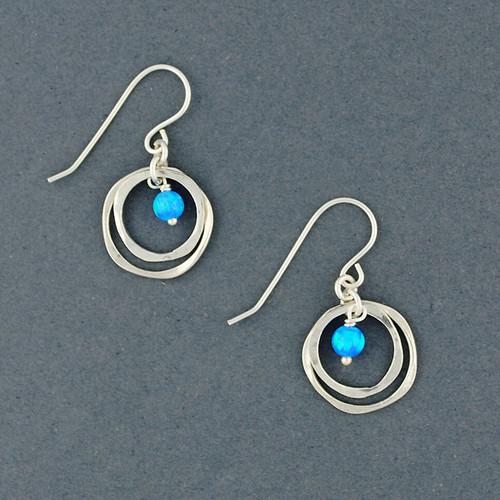 Opal and Mini Circles Earrings