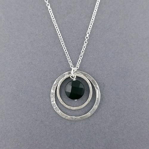 Onyx Circle Necklace