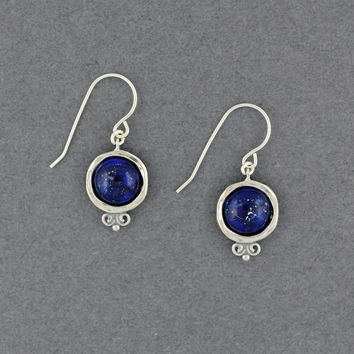 Lapis in Frame Earrings