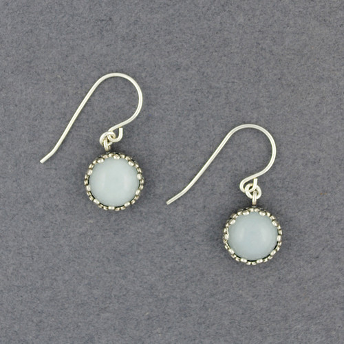 Moonstone in Dotted Frame Earrings
