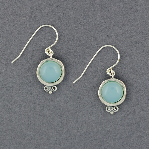 Chalcedony in Frame Earrings
