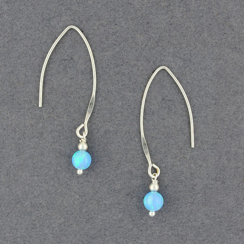 Opal Long Wire Earrings