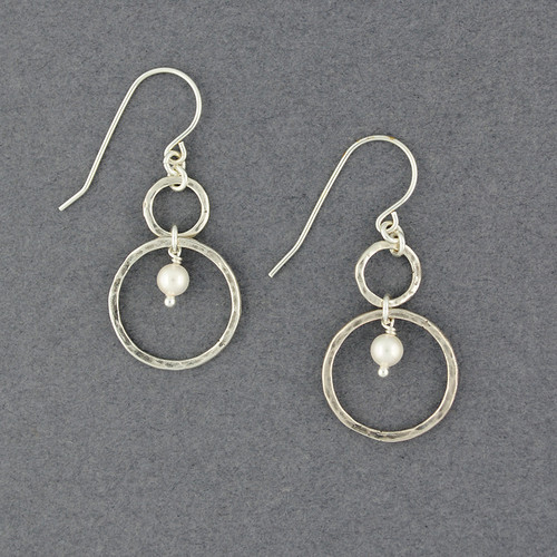 Pearl in Circles Earrings