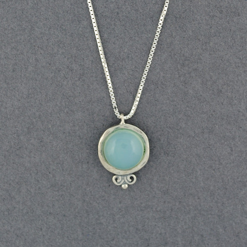 Chalcedony in Frame Necklace