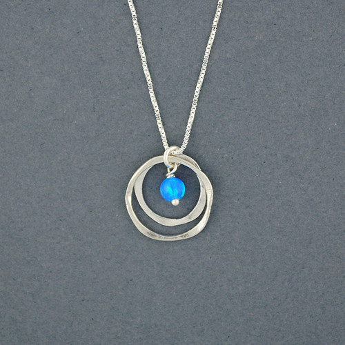 Opal in Mini Circles Necklace