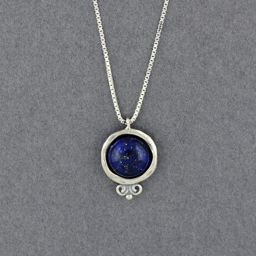 Lapis in Frame Necklace