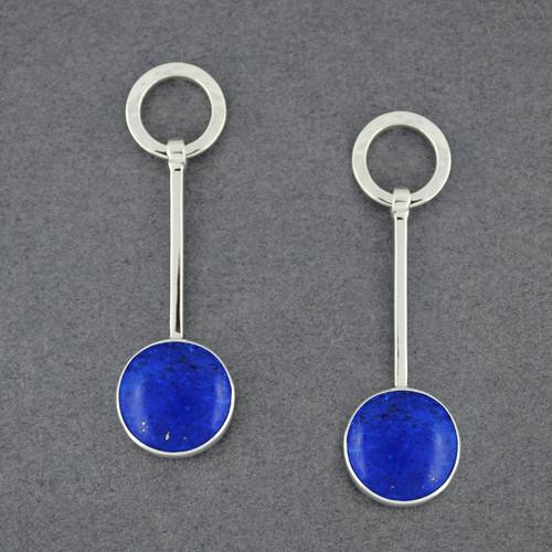 Trapeziod Lapis Earrings