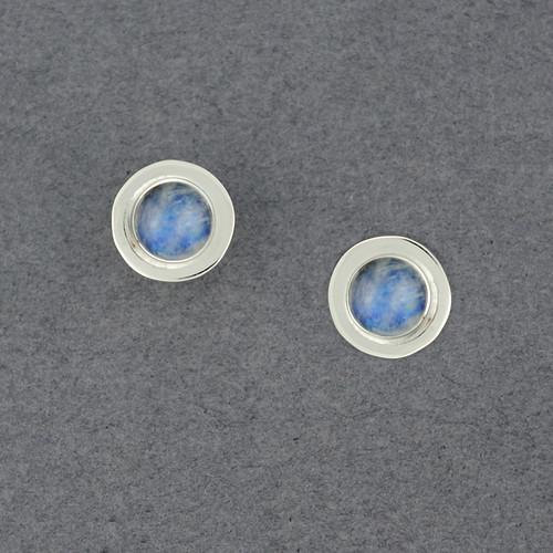 Round Labradorite Post Earrings