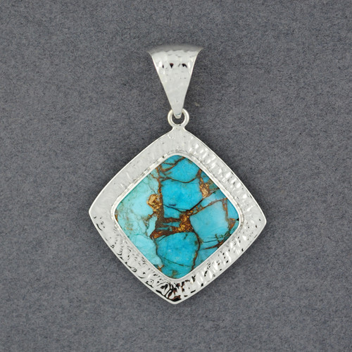 Reflection Turquoise and Bronze Pendant