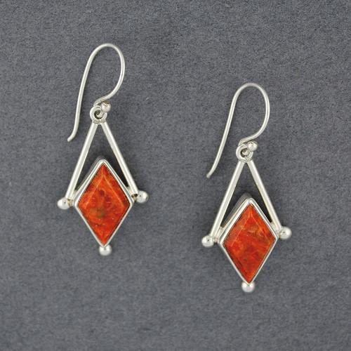 Imperial Coral Earrings