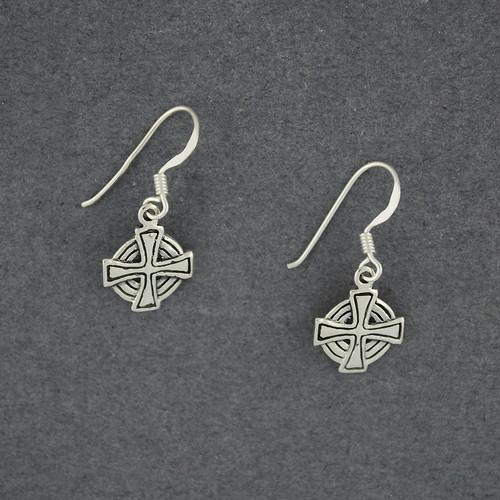 Celtic Circle Cross Earrings