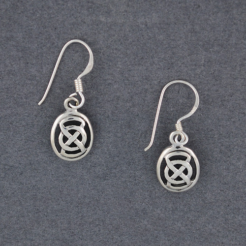 Sterling Silver Celtic Infinity Oval Earrings