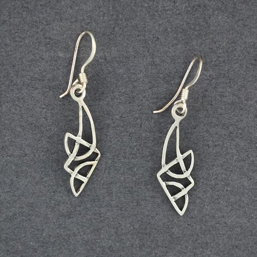 Sterling Silver Irregular Celtic Knot Earrings
