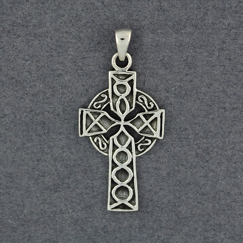 Sterling Silver Intricate Celtic Cross Pendant