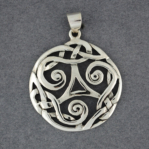 Sterling Silver Large Intricate Celtic Knot Pendant
