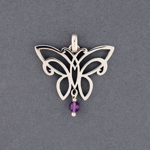 Butterfly with Stone Pendant