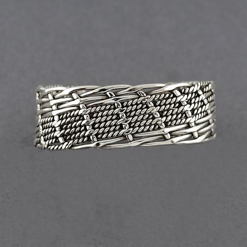 Sterling Silver Multi Weave Cuff