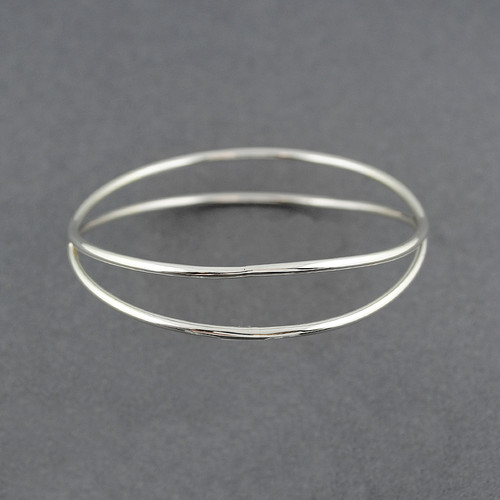 Sterling Silver Parting Bangle