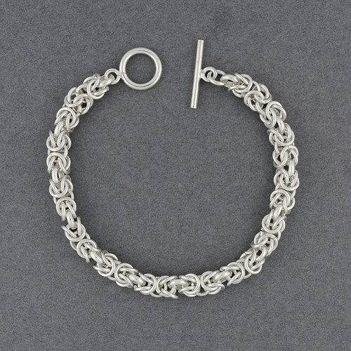 Sterling Silver Intricate Link Bracelet