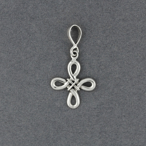 Sterling Silver Small Looped Knot Pendant