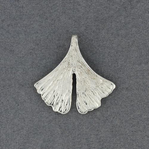 Sterling Silver Ginkgo Leaf Pendant