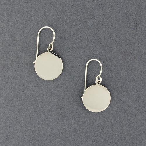 Sterling Silver Flat Circle Earrings