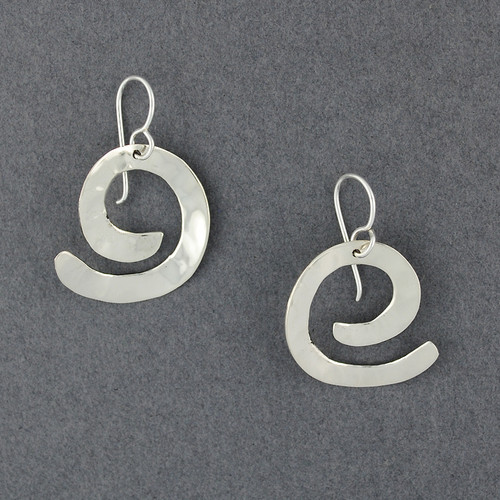 Sterling Silver Hammered Thick Spiral