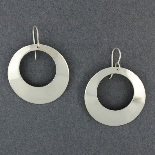 Sterling Silver Large Open Circle Earrings